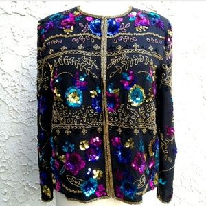 Vintage Drapers Damons Sequin Jacket PM